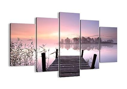 Cuadro sobre lienzo - 150x100 cm - Impresión en lienzo - 5 piezas ...