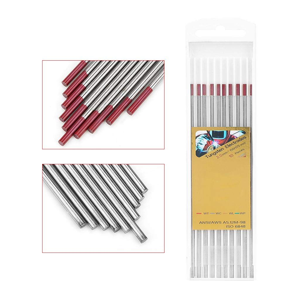 3.2 * 150 10 Pcs TIG Tungsten Electrodes,Welding Electrodes TIG Electrode Electrode Rod Tungsten TIG Set for Pipeline Stainless Steel Welding for Welding Stainless Steel,Pipelines and Small Parts