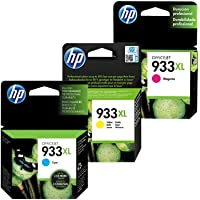 HP 3 Pack Combo Cartucho 933XL - 8.5ml - Alto Rendimiento - Colores Magenta Cyan Amarrillo - CN056AL CN055AL CN054AL Compatibles Impresora Office Jet 6100 6600 H711a 6700 7110 7510 7610 7612 Original