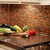 "backsplash for kitchen Fasade Easy Installation Traditional 1 Copper Fantasy Backsplash Panel for Kitchen and Bathrooms (18"" x 24"" Panel)"