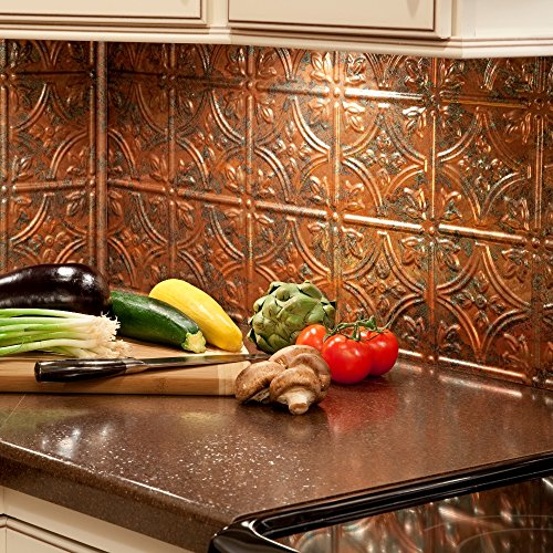 kitchen backsplash copper - 1