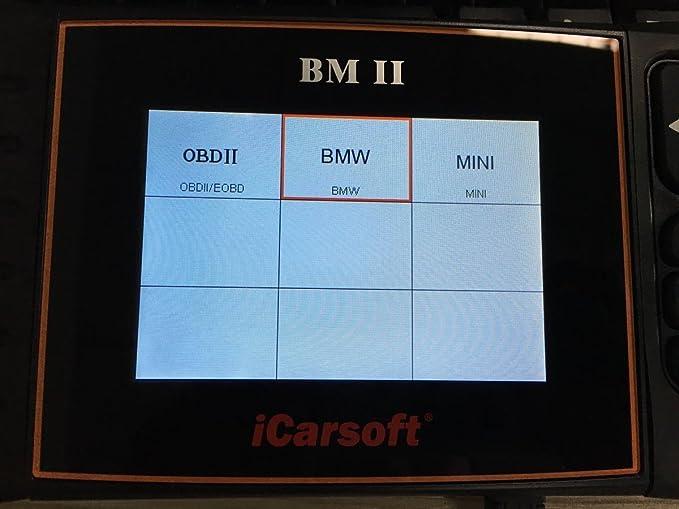 Icarsoft Bmii Kompatibel Mit Bmw Mini Smart Diagnostic Scanner Tool Srs Abs Bremse Motor Reset Ebp Sas Dpf Auto