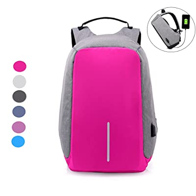 Chikencall Anti-theft Travel Backpack Laptop Bag with USB Charging Port Large Capacity Waterproof Light-Weight Luminous School Bag for College Student Work Men & Women high-quality