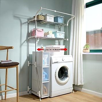 Waschmaschine Regale ZCJB Waschmaschine Badezimmer Aufrechtes  Speicherregal Edelstahl Badezimmer