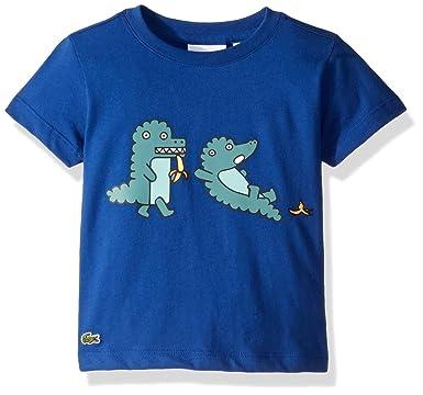 3a8f3c7a3a8335 Amazon.com  Lacoste Baby Toddler Boy Fun Croc T-Shirt  Clothing