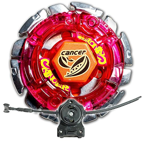 Dark Gasher / Cancer Metal Fusion 4D Bey STARTER SET w/ Launcher & Ripcord (Cancer Dark Beyblade)