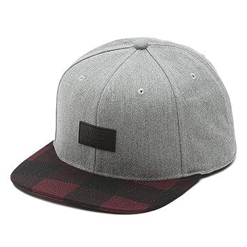 Vans Off The Wall Mens Allover It Snapback Hat Cap - Grey ...