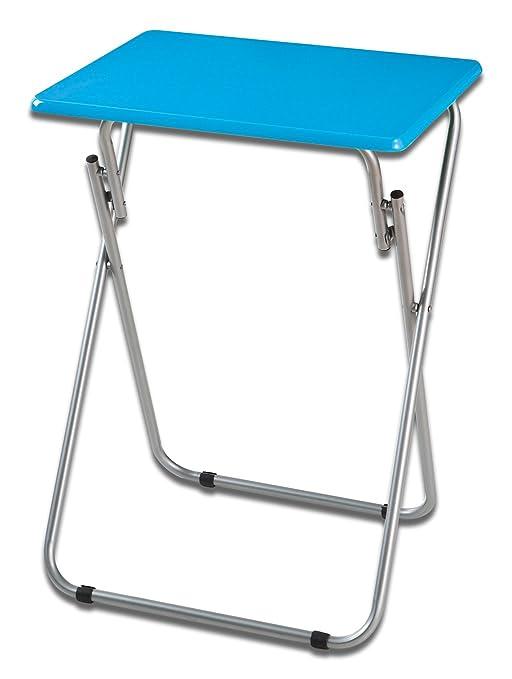 Inalsa Mesa Plegable Auxiliar Tapa Azul, Metal, 48X38X66 Cm ...