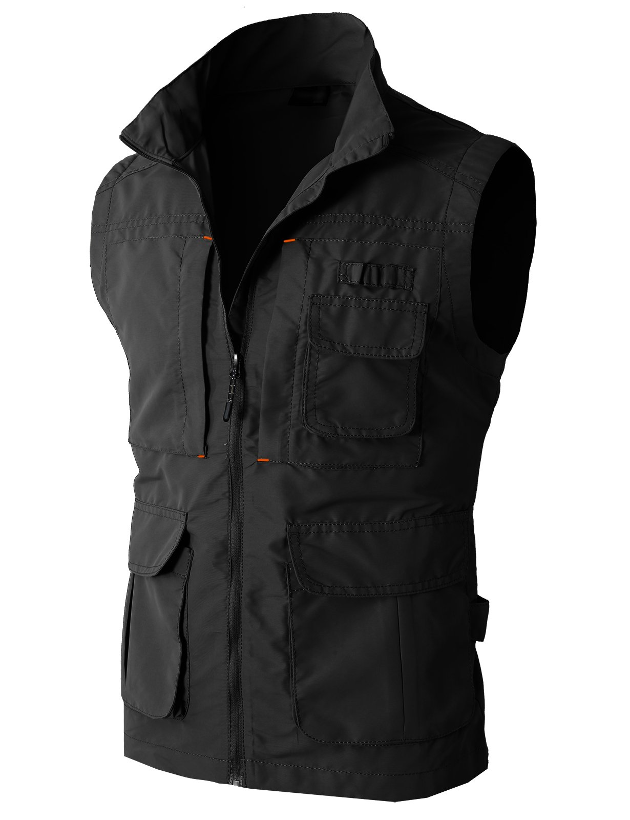 H2H Men's Plus Big and Tall Fishing Photographer Mesh Vest Outdoor Waistcoat Black US M/Asia L (KMOV081) by H2H