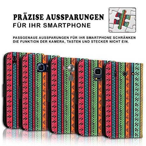 Wallet Book Style Flip Handy Tasche Case Schutz Hülle Schale Motiv Etui für Apple iPhone 6 / 6S - Design Flip MVD86