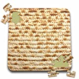 InspirationzStore Judaica - Matzah bread texture photo - for passover pesach - funny Jewish humor - humorous matzo Judaism food - 10x10 Inch Puzzle (pzl_112943_2)