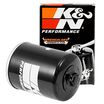 K&N Motorcycle Oil Filter: High Performance, Premium, Designed to be used with Synthetic or Conventional Oils: Fits Select Polaris Side-by-Side and ATV Models, KN-198: Automotive