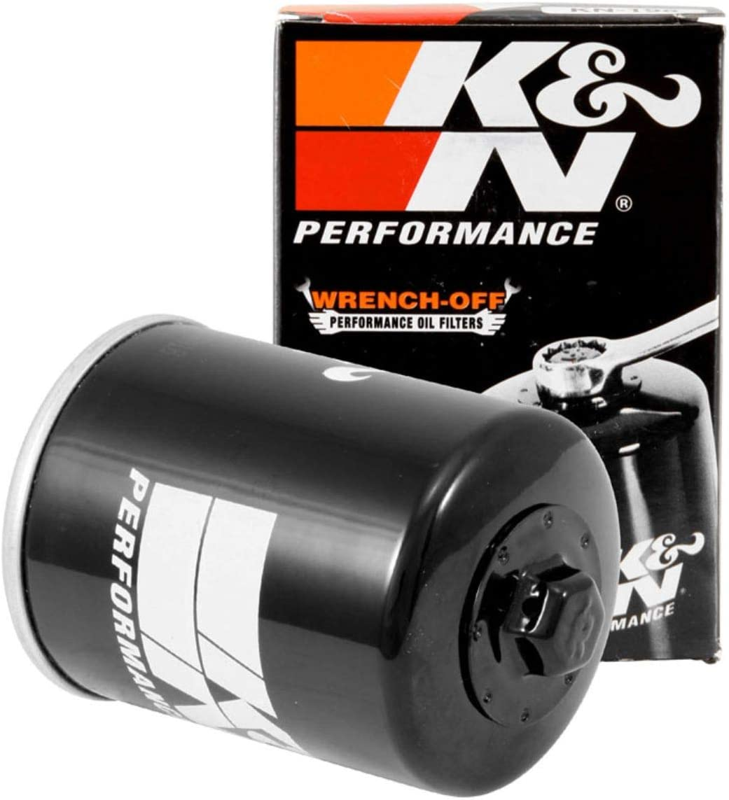 K&N Motorcycle Oil Filter: High Performance, Premium, Designed to be used with Synthetic or Conventional Oils: Fits Select Polaris Side-by-Side and ATV Models, KN-198