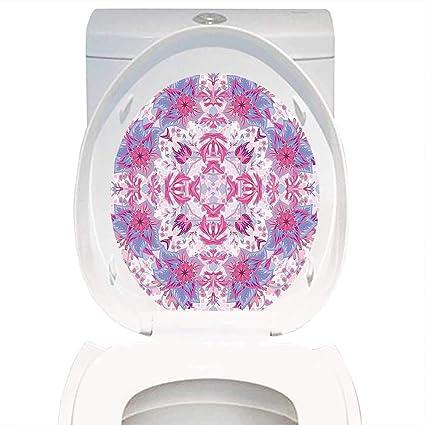 Amazoncom Qianhe Home Toilet Seat Decal Mauve Decor Arabesque Boho