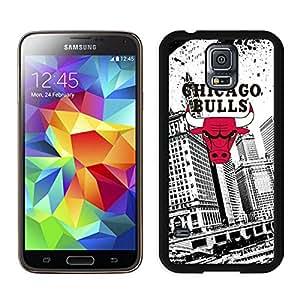 Popular And Unique Custom Designed Case For Samsung Galaxy S5 I9600 G900a G900v G900p G900t G900w With Chicago Bulls Black Phone Case