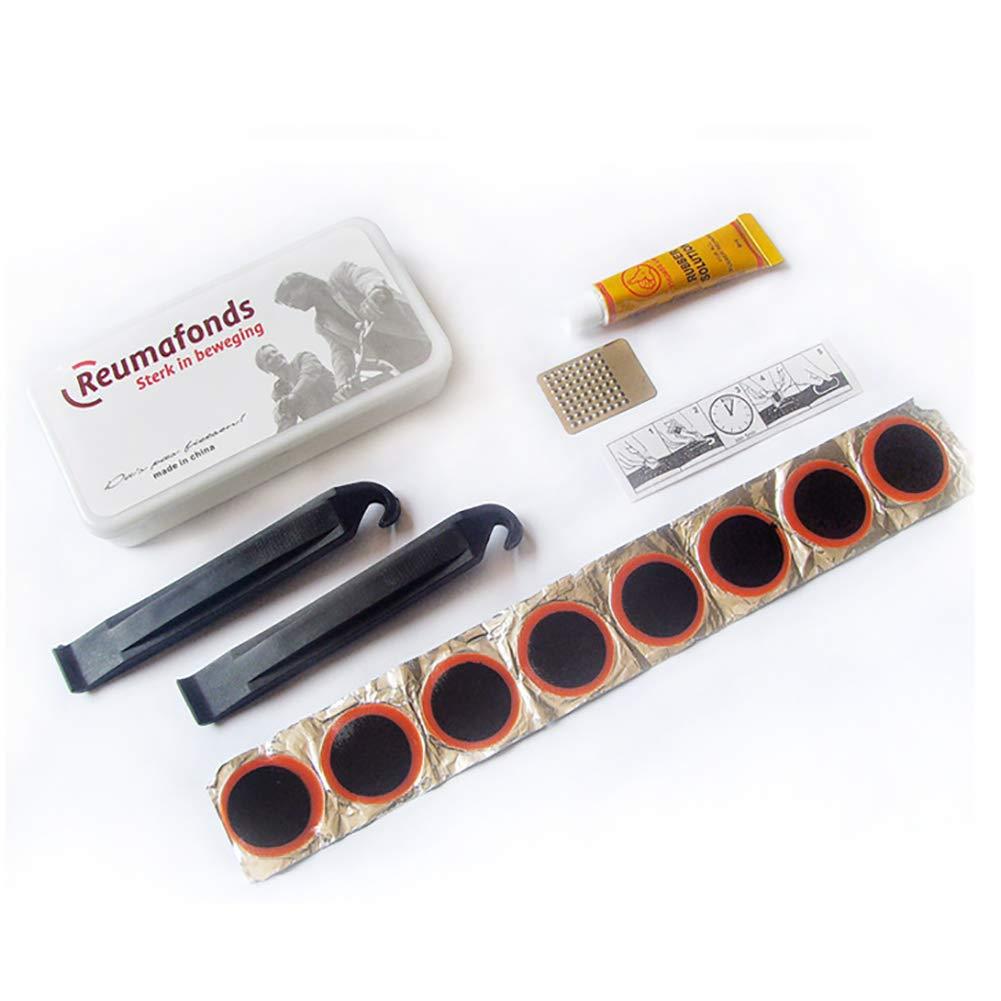 Ouken Bici Riparazione Tool Kit Multifunzione Meccanico Fix Strumenti Set Borsa Bicicletta con Pneumatico Patch 1 PC