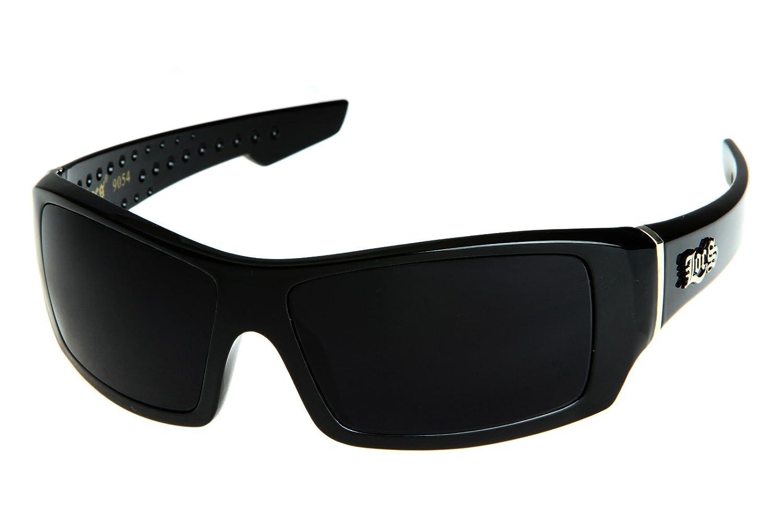 Locs Men's Rectangular Hardcore Wrap 63mm Sunglasses