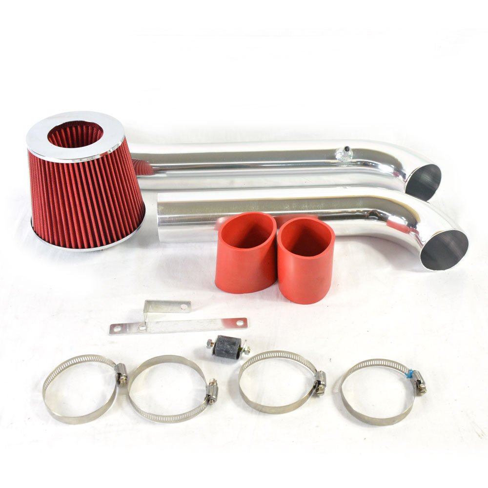 Intake Pipe Performance Cold Air Intake Induction Kit With Filter For 1994-2002 Honda Accord DX/LX/EX/SE 4-Cylinder Engine Models Only 2.2L/2.3L (red)