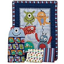 CoCo & Company Monster Buds 4 Piece Crib Bedding Set