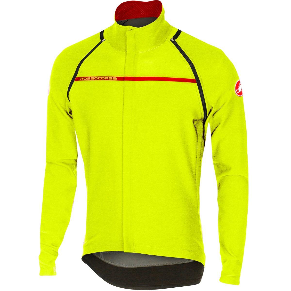 castelli Perfetto Convertible Jacket Mens Yellow Fluo XL