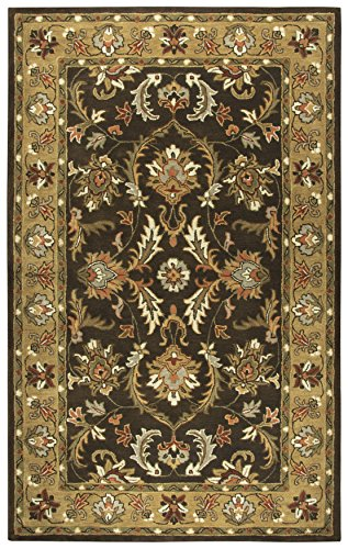 Rizzy Home Stafford Collection Wool Brown/Gold/Rust/Gray/Beige/Ivory Motif Area Rug 8' x 10'
