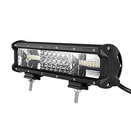 Triple row light bar powlab 12 led light bar lumileds combo beam 108w 7d tri row 12 inch straight driving light bar waterproof 10800lm for jeep triple row light bar powlab 12quot led light bar lumileds combo beam aloadofball Gallery