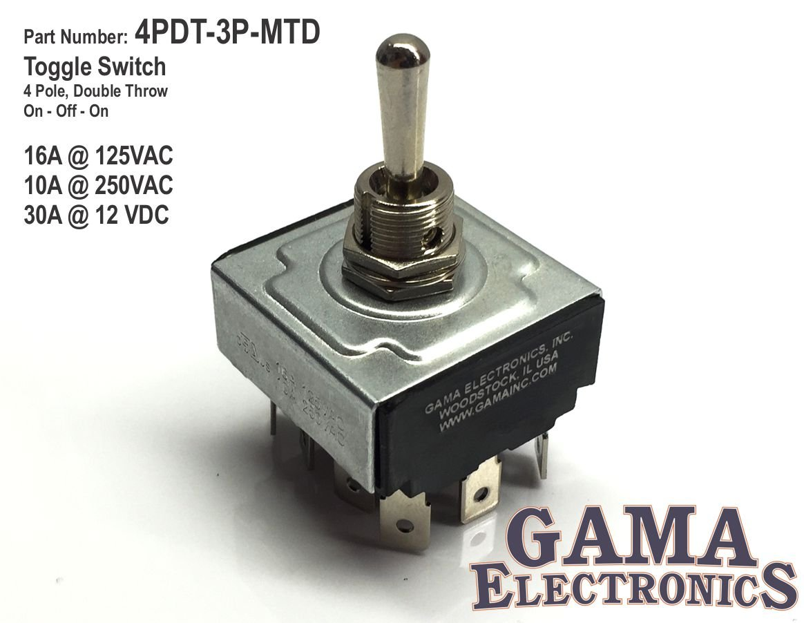 Gama Electronics 4 Pole Double Throw On Off Toggle Switch 1 Style Choose Rocker 4pdt Automotive