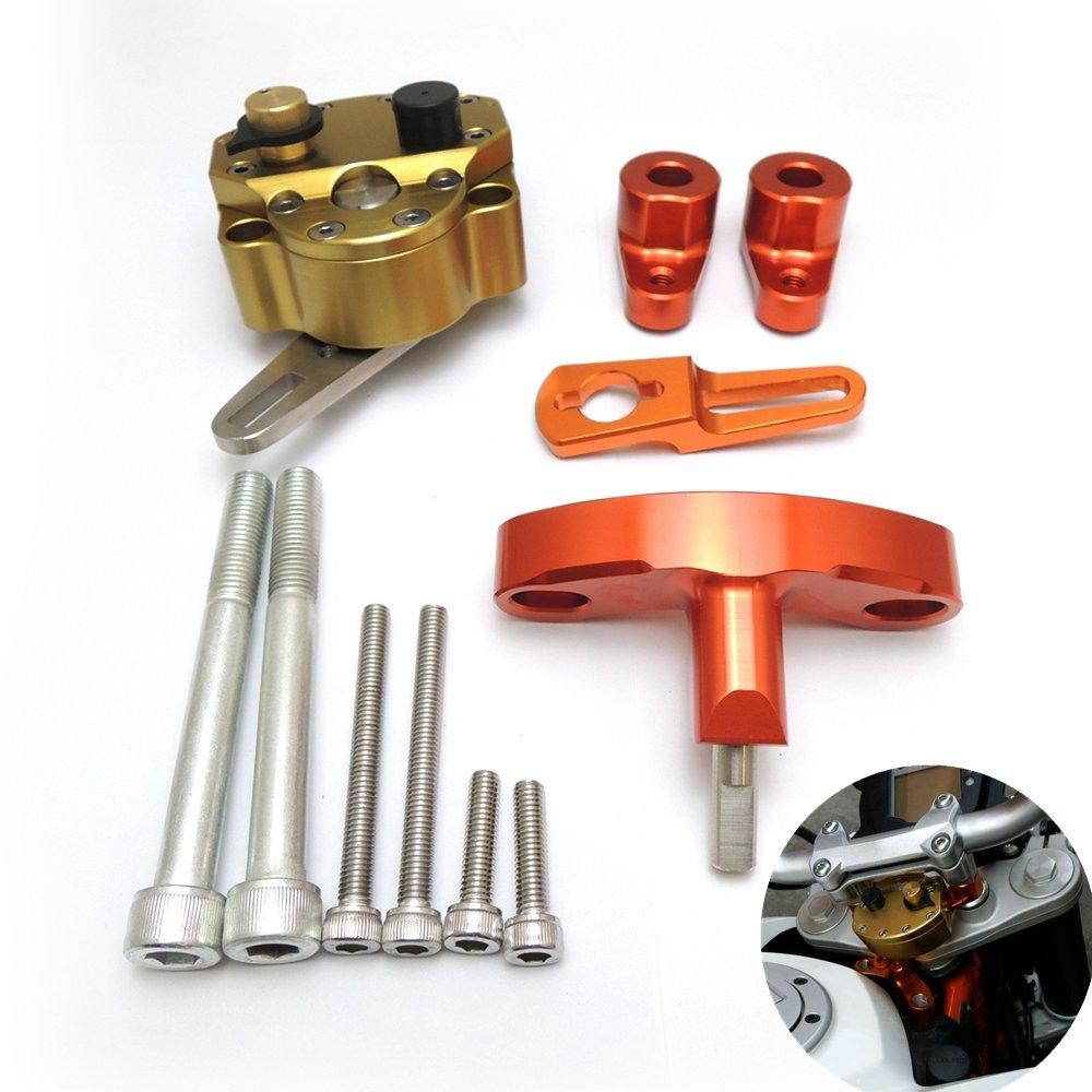 KEMIMOTO 2012 2013 2014 2015 KTM DUKE 200/390 Steering Damper Stabilizer Bracket Mount