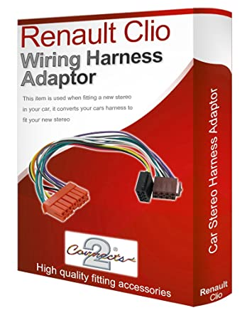 61RCpPT KDL._SY450_ renault clio cd radio stereo wiring harness adapter amazon co uk renault clio stereo wiring harness at mifinder.co