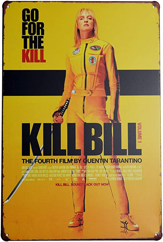PEIs Kill Bill - Cartel de Metal para decoración de Pared, 20 x ...