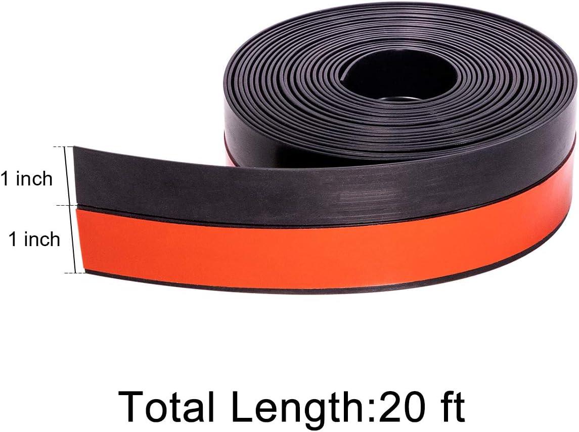 2 inch Wide x 20 feet Long Weatherseal Replacement Window Draft Tape Adhesive Door Seal Strip Gap Seal Grey
