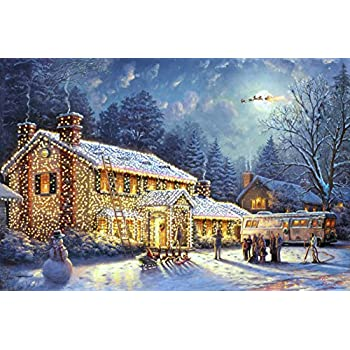 iconic classic thomas kinkade 12x18 national lampoons christmas vacation full image premium giclee fine art print