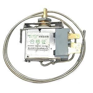 COMOK 3 Pin Terminals WDF 20L Metal Cord Freezer Refrigerator Temperature Controller AC 250V