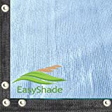 EasyShade 90% Heavy Duty White Shade Cloth Taped Edge with Grommets UV 26ft Wide (26ft x 16ft)