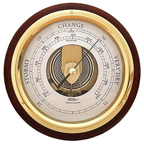 (Fischer Barometer Pascal, Brass-Mahogany 6.7