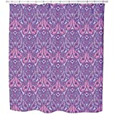 Uneekee Paisley Exquisite Shower Curtain: Large Waterproof Luxurious Bathroom Design Woven Fabric