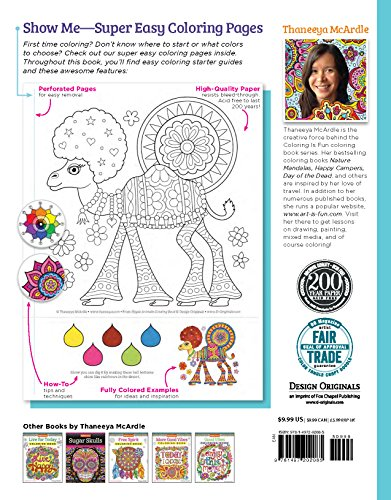 Hippie Animals Coloring Book Coloring Is Fun Design