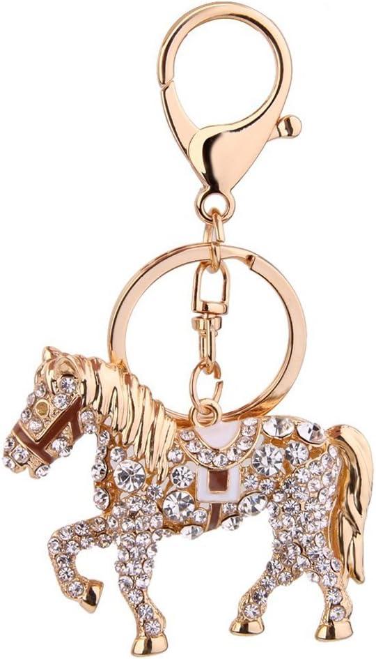caf/é PIXNOR Cheval Porte-cl/és Cha/îne de porte-cl/é pendentif strass cheval