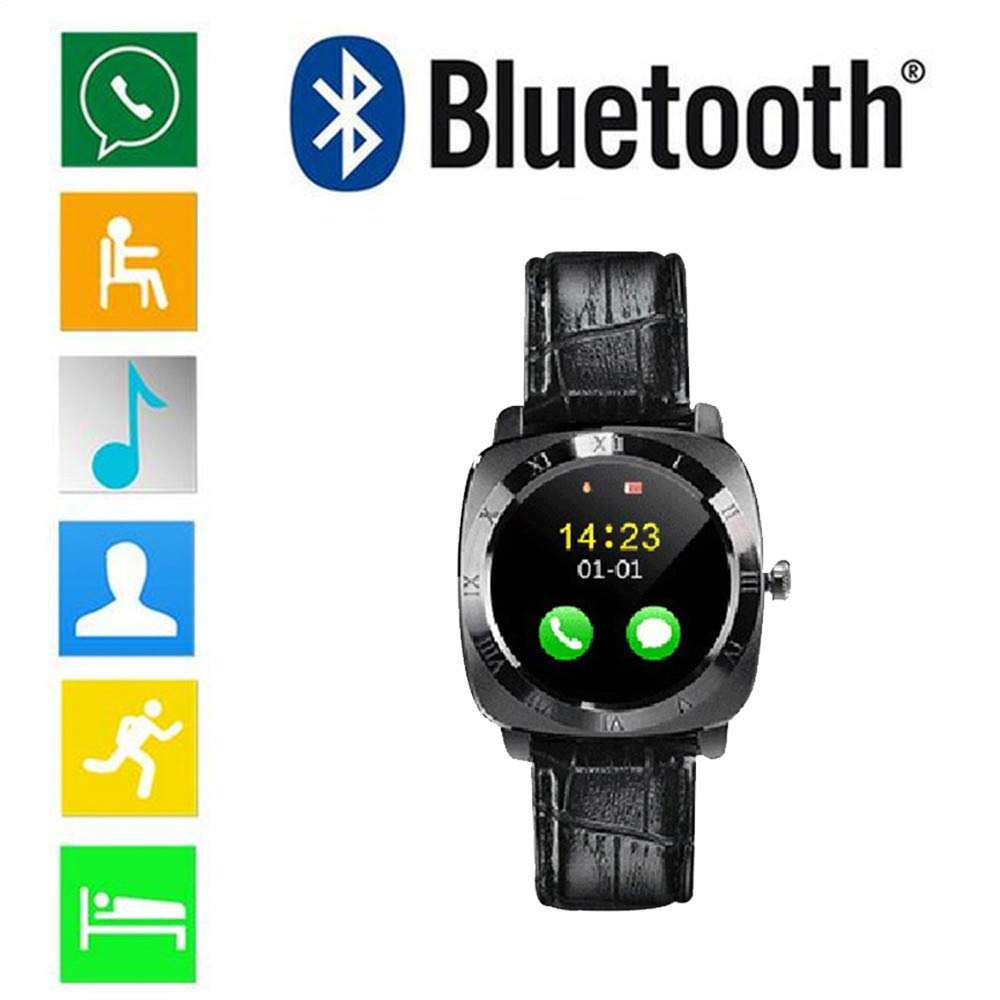 12shage Bluetooth Reloj Inteligente,Hombres Mujeres IP67 Impermeable ...