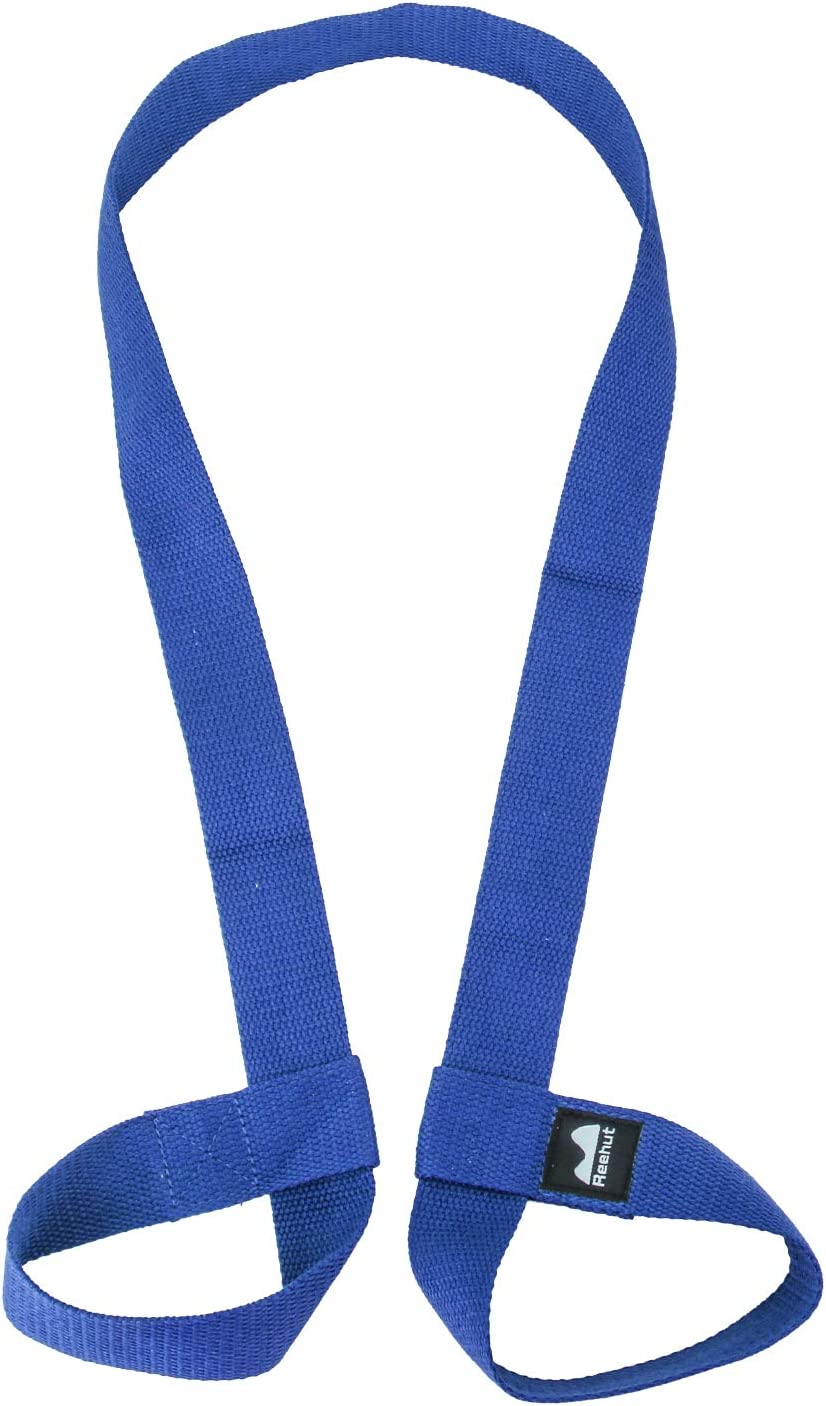 REEHUT Yoga Mat Strap, Adjustable Mat Carrier Sling for Carrying, Doubles As Yoga Strap for Stretching-Durable Cotton Texture (Yoga MAT NOT Included)