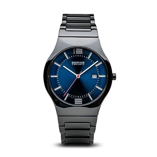 BERING Reloj Analógico para Hombre de Cuarzo con Correa en Cerámica 31739-747: Amazon.es: Relojes