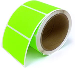 Next Day Labels, Rectangle Inventory Color Coding Labels, 250 Per Roll (Fluorescent Green, 3 X 2)
