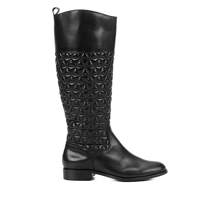 373e9386c Bota Couro Montaria Shoestock Matelassê Feminina  Amazon.com.br  Amazon Moda