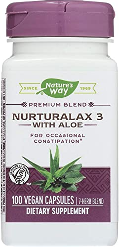 Nature s Way Nurturalax 3 with Aloe 100 Vegetarian Capsules