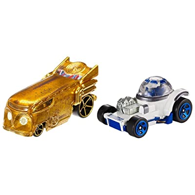 Hot Wheels Star Wars Character Car 2-Pack, C-3PO and R2-D2: Toys & Games