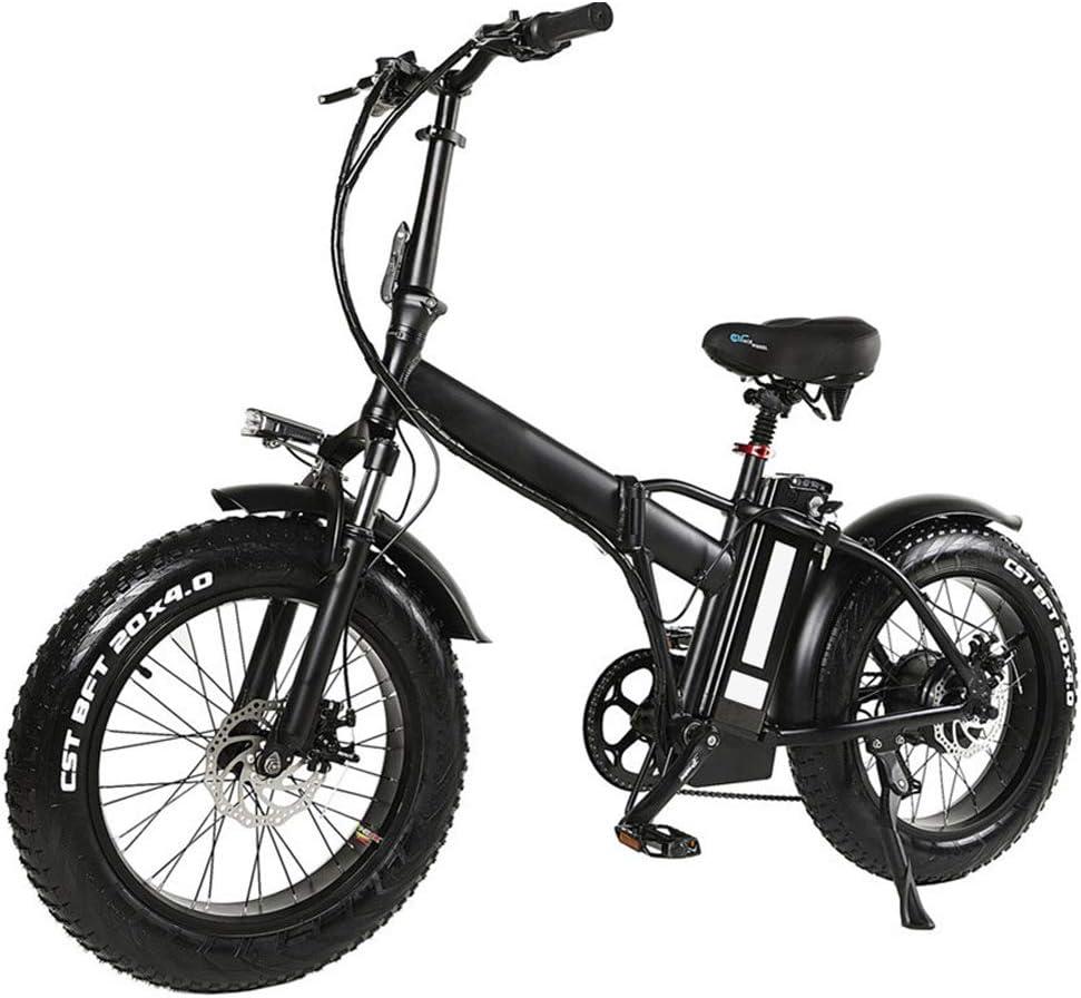 Bicicleta eléctrica plegable bicicleta de montaña para adultos, de 20 pulgadas con motor extraíble de iones de litio de 48V 500W de alta velocidad, velocidad 7 ...