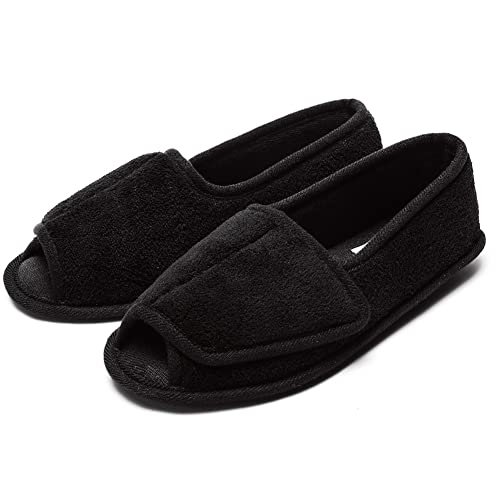 3c28e361400ad Git-up Women Diabetic Arthritis Edema Memory Foam Slippers Hook and Loop  Shoes/W