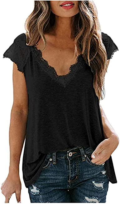 Ladys V-Neck Blouse T Shirts Ladies Casual Long Sleeve Tunic Baggy Tops S-5XL UK