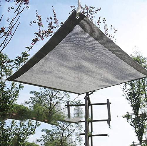 オーニングシェードボタンホール, 日除けシェードベランダシェードセイルサ防水ために庭園フェンス中庭パティオ,Grey-2x6m/6x18ft