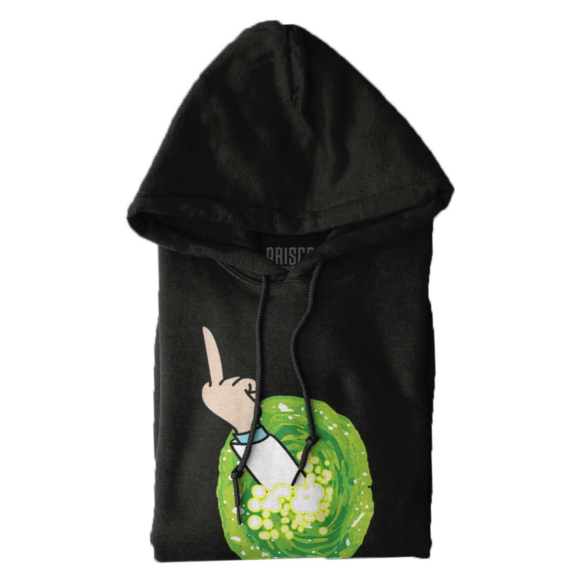 Brisco Brands Portal Rick Sanchez Schwifty Cool Funny Morty GLIP Glop Edgy Hoodie Sweatshirt by Brisco Brands (Image #6)